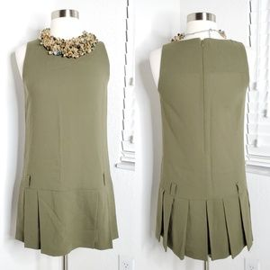 •ERMANNO SCERVINO• Drop Waist Pleated Dress Sz 38.